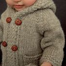 Knitting pattern double breasted baby coat with hood, knitting pattern jacket, baby knitting pattern 3 months to 10 years   Latte Coat