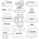 Katzen - Kostenlose Arbeitsblätter