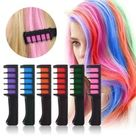 8 Colors Ameauty Temporary Hair Chalk Cosplay DIY Non-Toxic Washable Hair Color Comb for Party Makeup | Wish