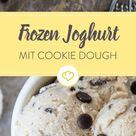 Frozen Joghurt mit Cookie Dough