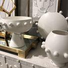 Spheres Collection Vase Ivory - Ceramic / 11 High x  12.25 Diameter