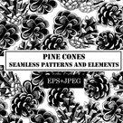 Pine cone seamless pattern (652819) | Patterns | Design Bundles