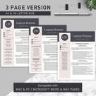 Teacher Resume Template for Word and Pages | Elementary Resume | Teaching Resume | Teacher CV Template | Resume Teacher | Education Resume