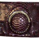 Michael Kors Bags   Scorpio's Purple & Silver. Python Leather Metal Clutch, Purple/Silver, One Size, New   Tradesy