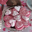 American Girl Frosted Heart Cookies with Sprinkles  | Etsy