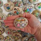 Inspirierende Geschenke, Bestätigungs Steine, Hochzeitsbevorzugungen, gemalte Felsen, gemalter Felsen, Bestätigungs Steine