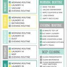 Printable Daily Cleaning Schedule for Busy Moms - Melissa Fitzhugh | Clutter Coach