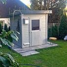 Eine Mini-Sauna passt überall: Das Wolff Saunahaus Lenja-40