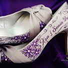 Purple Bridal Shoes