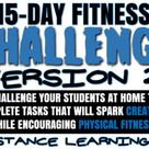 15 Day Fitness Challenge- VERSION 2! Great for PE Distance Learning