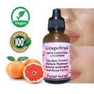 Oily Skin Control Grapefruit Organic Serum Lycopene & Beta Carotene Anti-Acne Factor Reduces Redness Natural Ingredients Only Alcohol Free