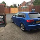 2009 Audi S3 Sportback in this morning for 18 carbon tints to the rear.