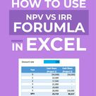 How to Use NPV vs IRR Formula in Excel