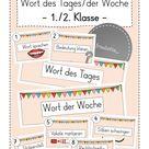 Wort des Tages/der Woche Tafelmaterial (1./2. Jahrgang) – Unterrichtsmaterial im Fach Deutsch