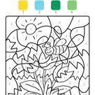 Kostenlose Malvorlage Malen nach Zahlen: Tulpen ausmalen zum Ausmalen