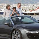 Top Gear stars arrive in Puerto Banus as they prepare to drive from Gibraltar to London