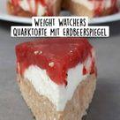 Weight Watchers Quarktorte mit Erdbeerspiegel