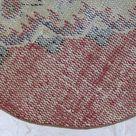 Rustic home decor, Turkish small rug, Orange area rug, Vintage handmade rug, Round rug, Bohemian rug, Bathroom decor,  2.7 x 2.7 ft MB9919