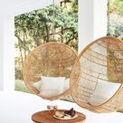 Biophilia Interior Design and How You Can Use It In Your Home - Window Rattan Swing Chairs