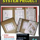 Project on Digestive System of Human Body Cut and Paste Match Symbols Functions File Folder Activity