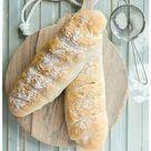 Schnelles Rezept für ein frisches Baguette   Einfach