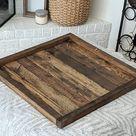 Square ottoman tray | Etsy