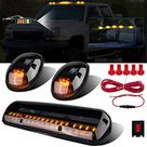 LIMICAR 3X Smoked Cover Cab Roof Top Marker Running Lamps Amber 30 LED Lights Compatible w/ 2002-2007 Chevrolet Silverado/GMC Sierra 1500 1500HD 2500 2500HD 3500 Trucks w/ Cab Marker Lights - 3X 30LED Smoked Cover Cab Marker Amber Lights