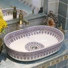 277.0US $ |China Artistic Handmade Ceramic Art Basin Sinks Counter Top Wash Basin Bathroom Vessel Sinks vanities ceramic basin wash basin|basin sink|basin sizebasin mixer - AliExpress