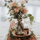 20 Rustic Tree Stump Wedding Centerpieces | Roses & Rings