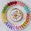 Floral Embroidery Kit- Hand Embroidery Kit- Embroidery Kit- Embroidery Kit Beginner- DIY embroidery kit- Embroidery Kit Flowers- Craft Kits
