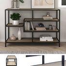 🤎Halbhohes Regal aus Metall & Holz im modernen Industrie Style Sagamy