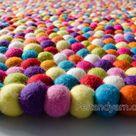 40 CM Wool Felt Pebble Rugs Felt Stone Rug  Felted   Etsy