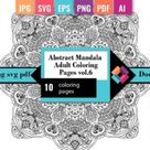 Abstract Mandala Adult Coloring Pages 6 Graphic by DoodleBox · Creative Fabrica