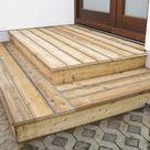 Bau Eingangspodest Holz