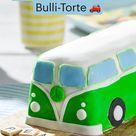 Als Geburtstagstorte:  Bulli-Torte 🚗