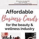 Affordable business cards for salons & spas- ORDER HERE