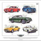 Aston Martin David Brown Fine Art Print DB2/4 DB4 GT DB5   Etsy