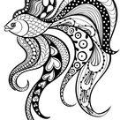 шаблон для росписи тарелки рыбки, животные 9 тыс изображений найдено в Яндекс.Картинках