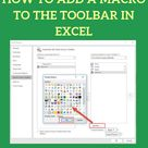 How to Add a Macro to the Toolbar in Excel