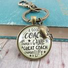 Football Coaching Sport Keychain Great Coach Changes Life Thank You Gift