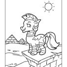 Hand Drawn Unicorn Coloring Page