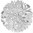 Anti-stress kleurplaten Herfst : Mandala herfst 1