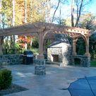 Barbeque Pergola by Trellis Structures