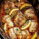 Crock Pot Lemon Garlic Butter Chicken Thighs