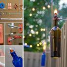 Wine Bottle Torches