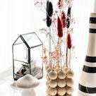 DIY Trockenblumenhalter aus Holzperlen und Herbstdekoideen für das Wohnzimmer