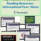 Human Reproductive System Informational Text and Reading Notes | Editable | Printable | Digital