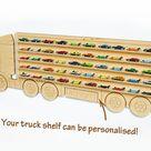 Hot Wheels Toy Car Storage, Display 60 Cars, Christmas or Birthday Gift Idea for boys Toy box storage Shelving in premium birch plywood Xmas