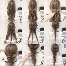 10 Quick and Easy Hairstyles Step by step