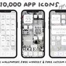 iOS14 App Icons iPhone Aesthetic   62 App Pack, ios14 icons, ios14 Home Screen Icons, App Icons, App Icon Cover